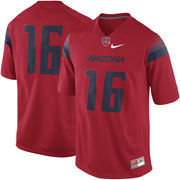 Men's Nike Red Arizona Wildcats #16 Game Football Jersey