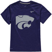 Youth Nike Purple Kansas State Wildcats Logo Legend Dri-FIT T-Shirt