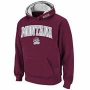 Men's Stadium Athletic Maroon Montana Grizzlies Arch & Logo Pullover Hoodie