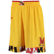 Men's Under Armour Gold Maryland Terrapins Replica Basketball Performance Shorts
