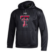 Men's Under Armour Black Texas Tech Red Raiders Big Logo Storm Performance Pullover Hoodie