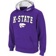 Men's Stadium Athletic Purple Kansas State Wildcats Arch & Logo Pullover Hoodie