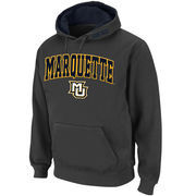 Men's Stadium Athletic Charcoal Marquette Golden Eagles Arch & Logo Pullover Hoodie