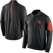 Men's Nike Black Oregon State Beavers 2015 Football Coaches Sideline Half-Zip Wind Jacket