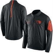 Men's Nike Black Oregon State Beavers 2015 Football Coaches Sideline Half-Zip Wind Jacket
