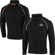 Mens Missouri Tigers Black Soft Shell Full Zip Jacket