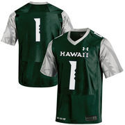 Men's Under Armour Green Hawaii Warriors #1 Replica Football Jersey