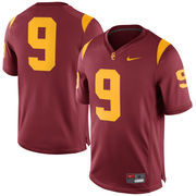 Men's Nike Cardinal USC Trojans #9 Game Football Jersey