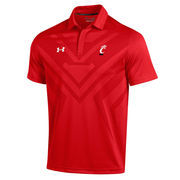 Men's Under Armour Red Cincinnati Bearcats Coaches Sideline Scout Polo