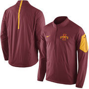 Men's Nike Cardinal Iowa State Cyclones 2015 Football Coaches Sideline Half-Zip Wind Jacket