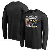 Men's Fanatics Branded Black Florida State Seminoles vs. Michigan Wolverines 2016 Orange Bowl Dueling Long Sleeve T-Shirt
