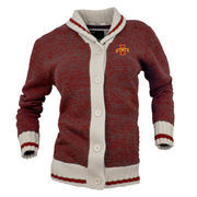 Women's Renu Red Iowa State Cyclones Button-Up Sweater Cardigan