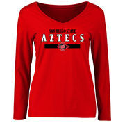 Women's Red San Diego State Aztecs Team Strong Long Sleeve Slim Fit T-Shirt