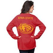 Women's Crimson Iowa State Cyclones The Big Shirt Oversized Long Sleeve T-Shirt