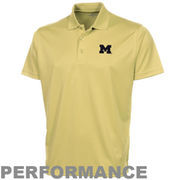 Michigan Wolverines Omega Solid Mesh Tech Performance Polo - Gold