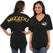 Women's Black Missouri Tigers Spirit Jersey Oversized T-Shirt