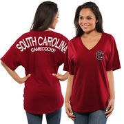 Women's Garnet South Carolina Gamecocks Spirit Jersey Oversized T-Shirt