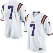 No. 7 LSU Tigers Nike Replica Football Jersey - White