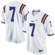 No. 7 LSU Tigers Nike Replica Football Jersey - White