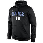 Men's Nike Black Duke Blue Devils Start of Season Pullover Performance Hoodie