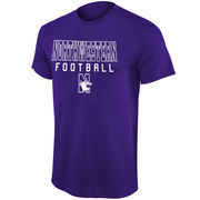 Mens Northwestern Wildcats Purple Frame Football T-Shirt
