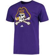 Men's adidas Purple East Carolina Pirates Primary Logo T-Shirt