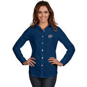 Women's Antigua Navy UTEP Miners Dynasty Woven Long Sleeve Button-Up Shirt