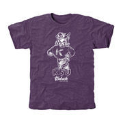 Men's Purple Kansas State Wildcats Truly Vintage Logo Tri-Blend T-Shirt