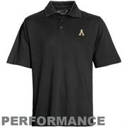 Mens Appalachian State Mountaineers Cutter & Buck Black DryTec Championship Polo