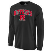 Men's Fanatics Branded Black Rutgers Scarlet Knights Campus Long Sleeve T-Shirt