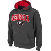 Men's Stadium Athletic Charcoal Georgia Bulldogs Arch & Logo Pullover Hoodie