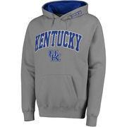 Men's Stadium Athletic Gray Kentucky Wildcats Arch & Logo Pullover Hoodie