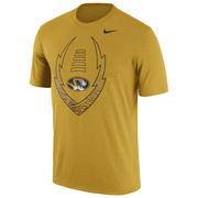 Men's Nike Gold Missouri Tigers Legend Icon Dri-FIT Performance T-Shirt