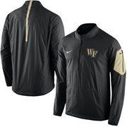 Men's Nike Black Wake Forest Demon Deacons 2015 Football Coaches Sideline Half-Zip Wind Jacket