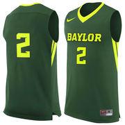 Men's Nike #2 Green Baylor Bears Replica Jersey