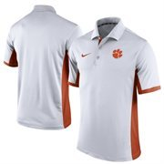 Men's Nike White Clemson Tigers Team Issue Performance Polo