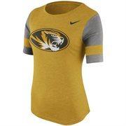 Women's Nike Yellow Missouri Tigers Stadium Fan Top