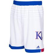 Men's adidas White Kansas Jayhawks March Madness Shorts