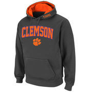 Men's Stadium Athletic Charcoal Clemson Tigers Arch & Logo Pullover Hoodie
