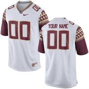 Mens Florida State Seminoles Nike White Custom Replica Football Jersey
