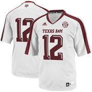 Mens Texas A&M Aggies No. 12 adidas White Replica Football Jersey
