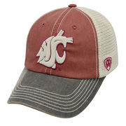 Men's Top of the World Crimson/Tan Washington State Cougars Offroad Trucker Hat
