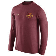 Men's Nike Cardinal Iowa State Cyclones Touch Performance Long Sleeve T-Shirt