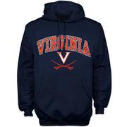 Mens Navy Blue Virginia Cavaliers Arch Over Logo Hoodie