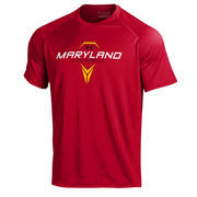 Men's Under Armour Red Maryland Terrapins Lacrosse Tech Performance T-Shirt