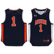 Youth Under Armour #1 Navy Auburn Tigers Performance Replica Basketball Jersey