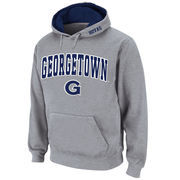 Men's Stadium Athletic Gray Georgetown Hoyas Arch & Logo Pullover Hoodie