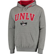 Men's Gray UNLV Rebels Arch & Logo Pullover Hoodie