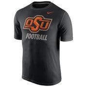 Men's Nike Black Oklahoma State Cowboys Sideline Legend Logo Performance T-Shirt