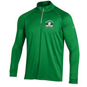 Men's Under Armour Kelly Green Marshall Thundering Herd 1/4 Zip Performance Top